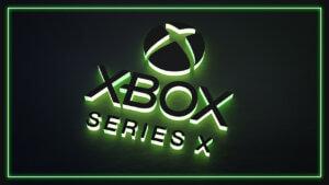 Картинка с текстом xbox на значки для ютуба зелёного неонового цвета на чёрном фоне.
