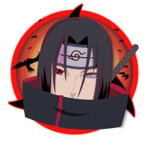 Картинка для аватарки аниме для парней с лицом вымышленного персонажа в красном круге.