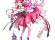 Картинка на аватарку аниме: мультипликационная девушка в розовыми длинными волосами и сказочном пышном платье.